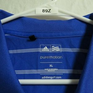 adidas Shirts - XL Blue Adidas PureMotion PGA Mens #89Z Golf Polo
